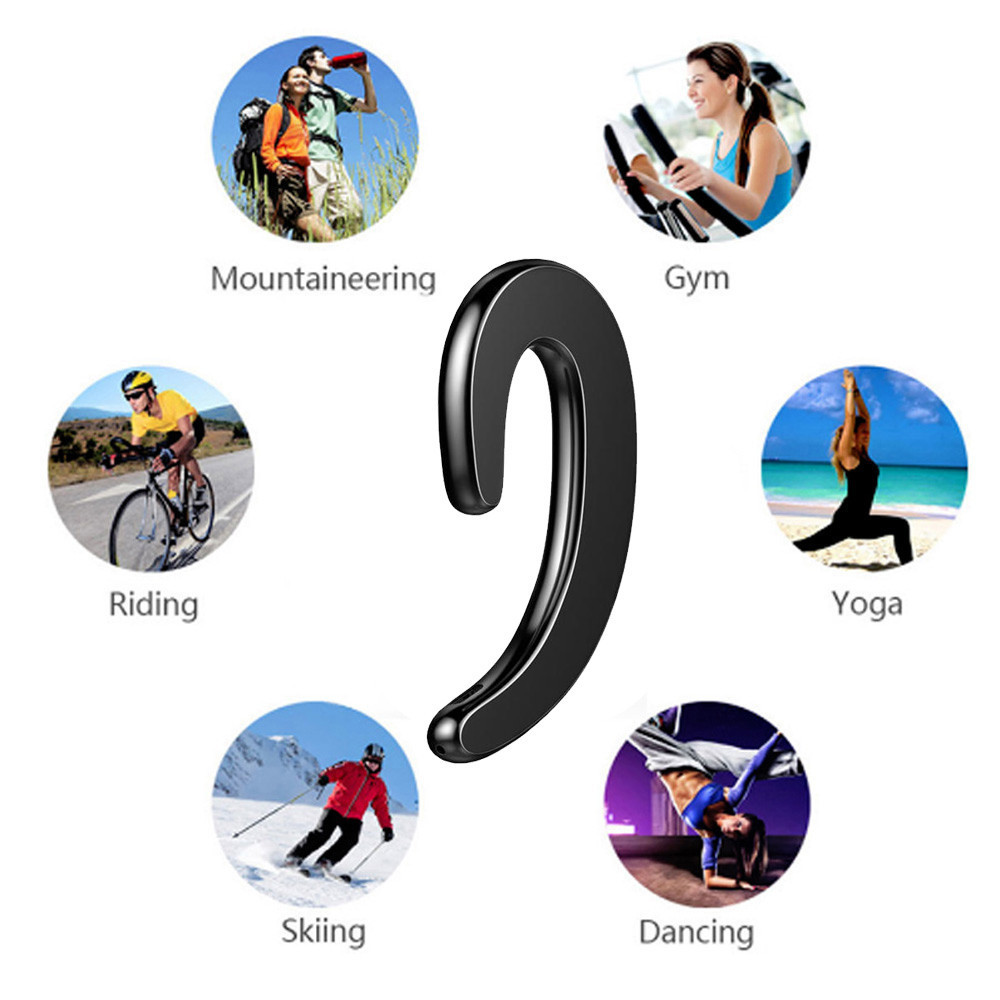 Tuscom Bone Conduction Earphone Wireless 4.2 Sports Headset Stereo Headphone