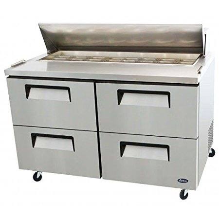 Atosa Usa Msf8313 Stainless Steel Sandwich Salad Prep Table 60 Inch Drawers Refrigerator