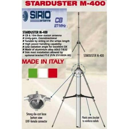Sirio StarDuster M-400 26 5 - 30Mhz Tunable CB/10M Base Antenna