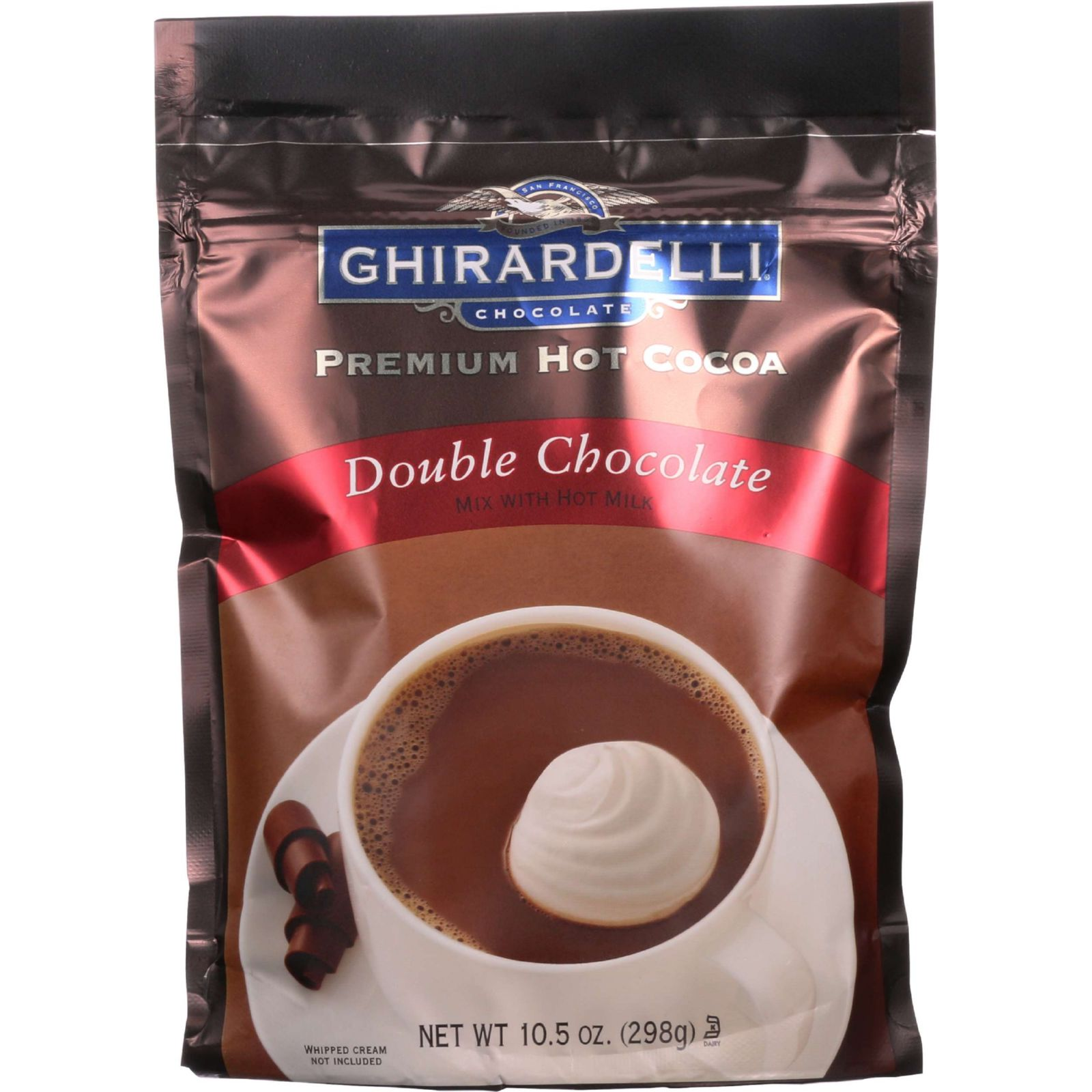 Ghirardelli Chocolate Premium Hot Cocoa Double Chocolate, 10.5 OZ