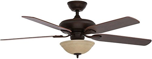 "52"" Hampton Bay Brushed Nickel Flowe Large Room Ceiling Fan by Hampton Bay by Hampton Bay"