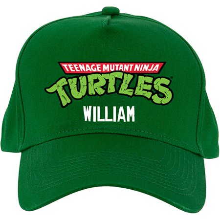f898223bd31 Personalized Teenage Mutant Ninja Turtles Retro Logo Green Baseball Hat -  Walmart.com