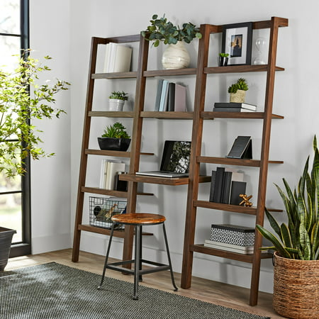 Bookcase Secretary Desk - Mainstays Sumpter Park Ladder Bookcase Desk