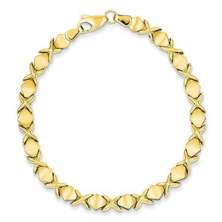 14k Yellow Gold Fancy Bracelet - 6.7 Grams - 7 Inch - Lobster Claw Gram 14k Gold Bracelet
