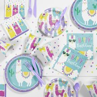 Llama Party Supplies Kit for 8 Guests