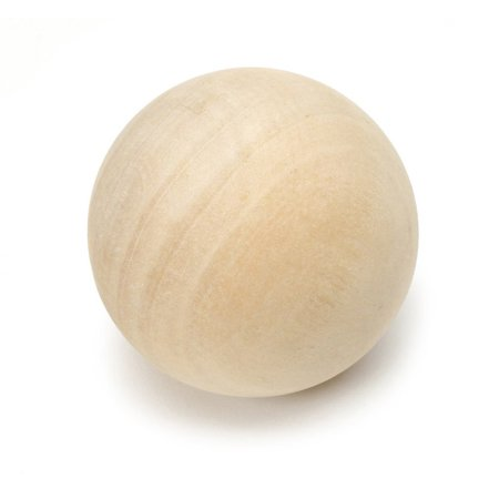 """Natural Wooden Round Ball – For Crafts and Building –1-1/2"""" Diameter - Pack of 5 - by Woodpeckers Crafts"""