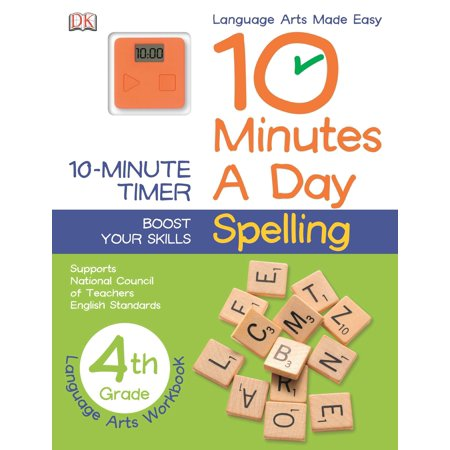 10 Minutes a Day: Spelling, Fourth Grade : Supports National Council of Teachers English Standards](Halloween Worksheets For 4th Grade)