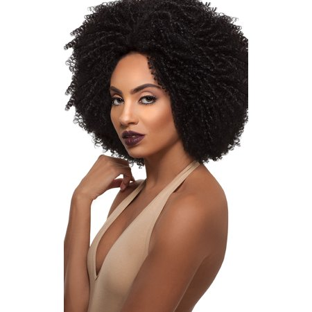 Outre Big Beautiful Hair Synthetic Lace Front Wig 4C-COILY (COLOR: 1 - JET (Beautiful Synthetic Lace)