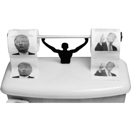 Donald Trump Toilet Paper With Strong Man Holder Political Gag Gift Set Contains 3 Rolls