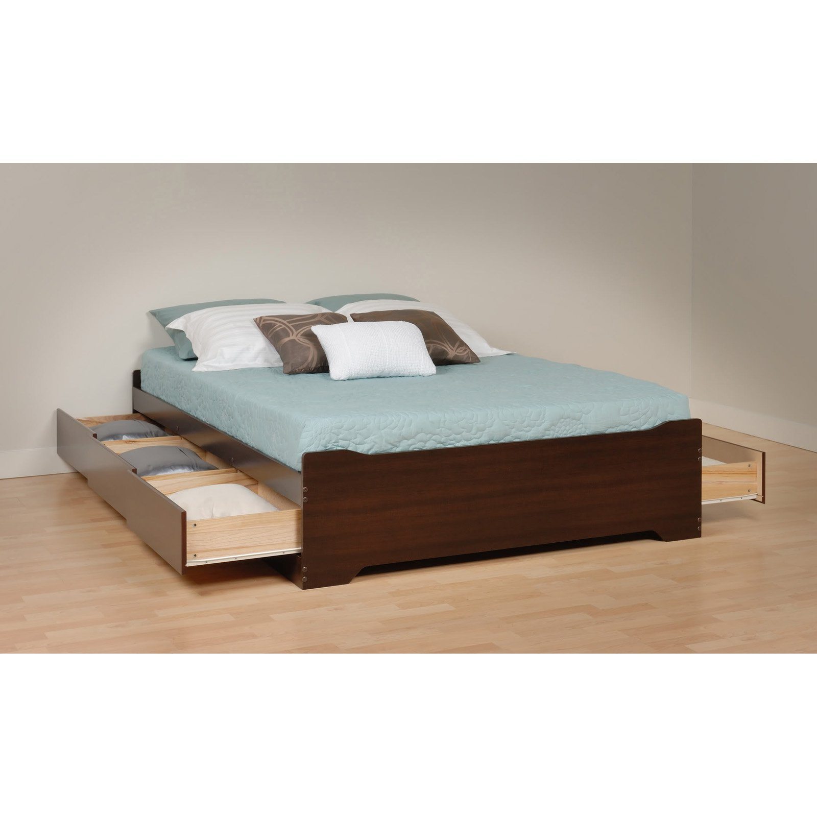 Coal Harbor Full Mates Platform Storage Bed with 6 Drawers, Espresso (Box 2 of 3)