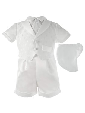 a5dc12259 Product Image Boys Cross Dobby Shawl Collar Short Set with Matching Hat (Baby  Boy)