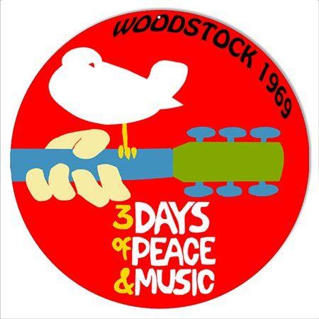 Woodstock 1969 Peace And Music Nostalgic Reproduction Metal Sign