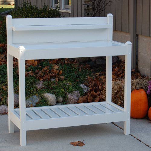 Dura-Trel Vinyl Greenfield Potting Bench - White