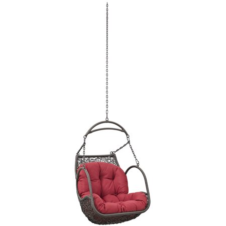 Pleasing Modern Contemporary Urban Design Outdoor Patio Balcony Swing Chair Red Rattan Onthecornerstone Fun Painted Chair Ideas Images Onthecornerstoneorg