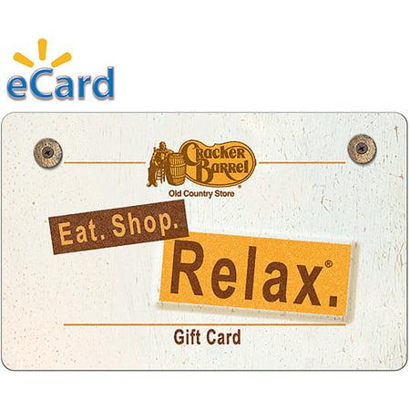 Cracker Barrel $25 Gift Card (email Delivery) (Cracker Barrel E Gift Card)
