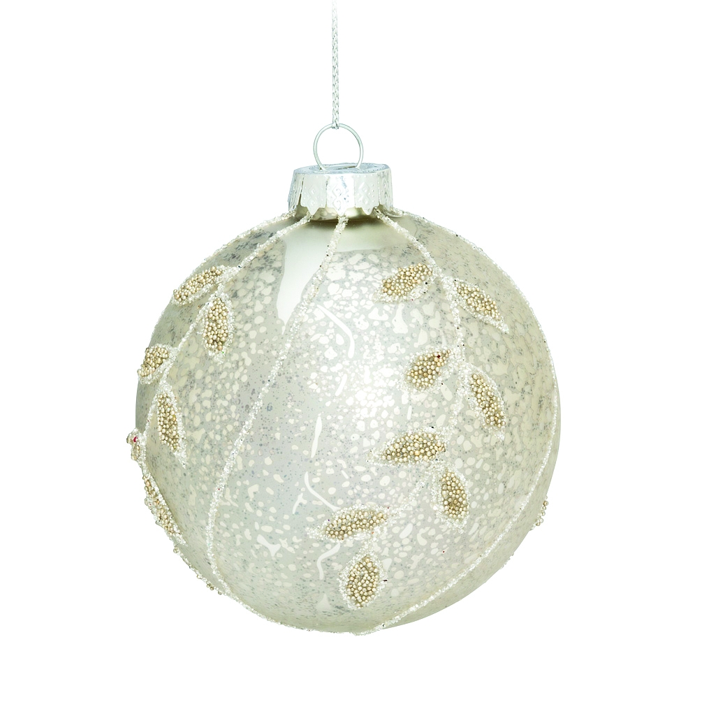 Abbott Christmas Ornament Ball, Silver - image 1 de 1