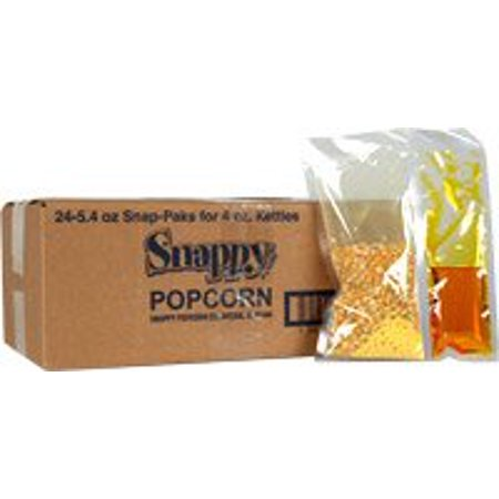 Snap-Paks for 4 oz. Poppers  (24 - 5.4 oz. packs) - Orange Popcorn For Halloween