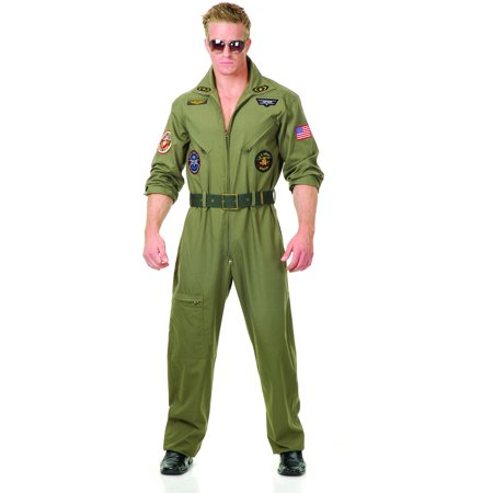 Adult Men's Top Gun Wing Man Fighter Pilot Ace Costume