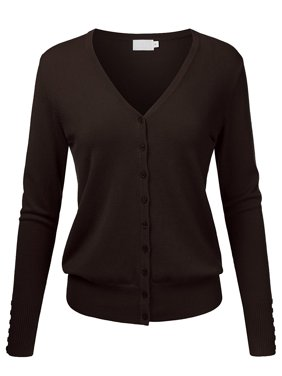 Product Image Women s V-Neck Button Down Long Sleeve Classic Knit Cardigan  Sweater 606e84919