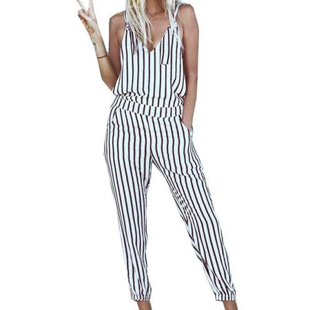 Womens Striped Long Slim Lace Up