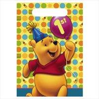 Winnie the Pooh Balloon 1st Birthday Favor Bags (8ct)