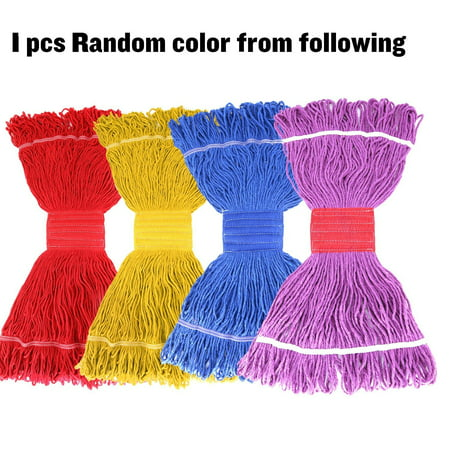 Looped End Mop Head Long Lasting Replacement Mop Head For Commercial Or Home Use Mop Head Refill 1 Pack Random Color ()