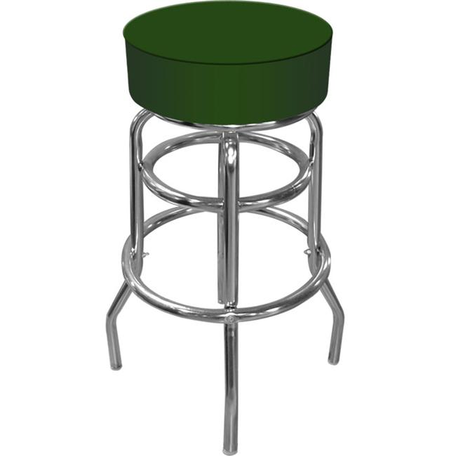 Trademark Commerce���������� 1000-GREEN High Grade Green Padded Bar Stool with Adjustable Levelers