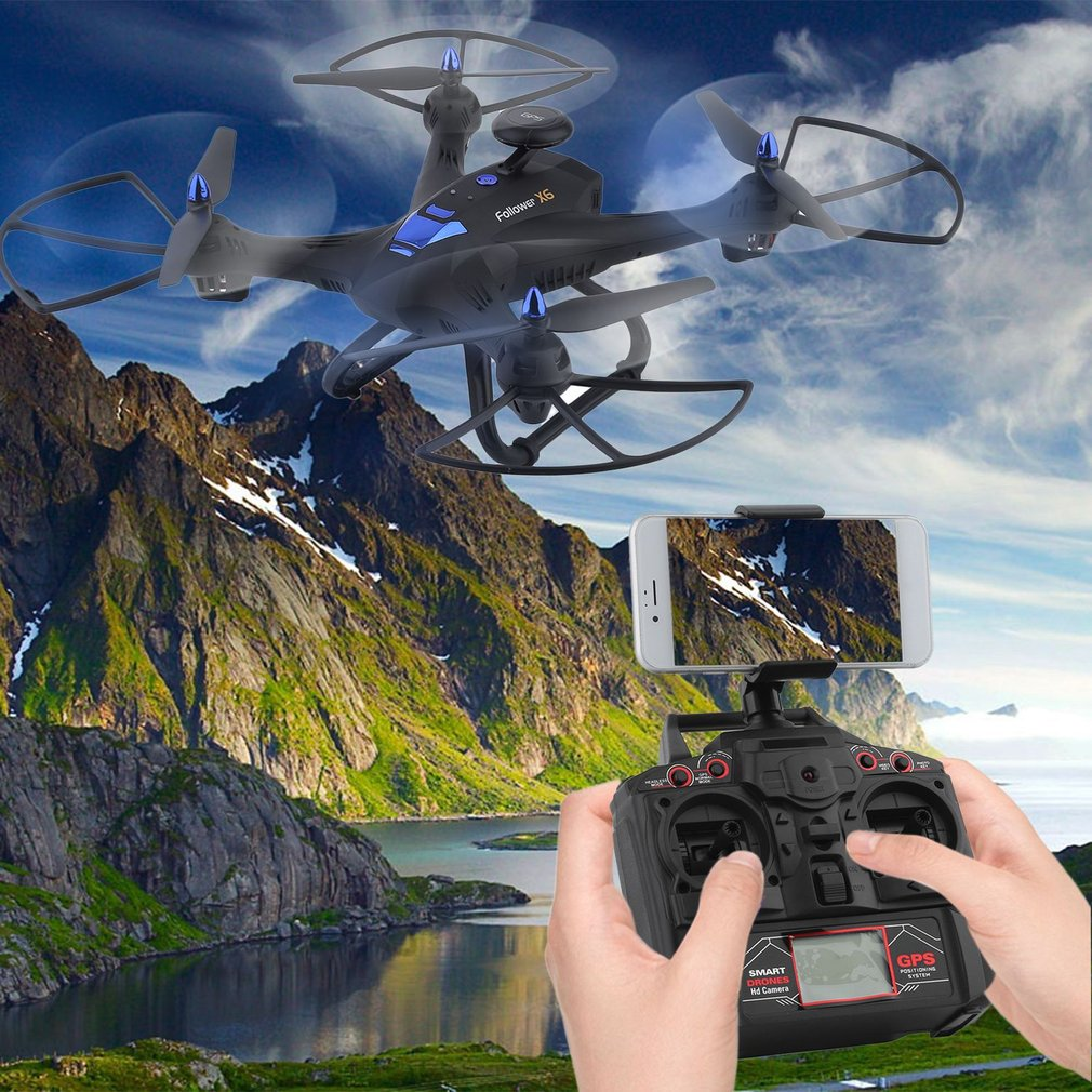 Wifi With 2MP HD Camera GPS Brushless Quadcopter 6-Axles RC Quadcopter