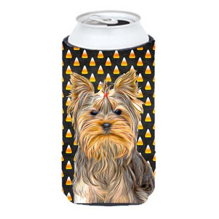 Candy Corn Halloween Yorkie & Yorkshire Terrier Tall Boy bottle sleeve Hugger](Yorkshire Halloween)