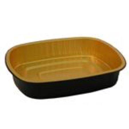 Handi Foil of America Medium Gourmet To Go Coated Entree Pan - 150 per case.
