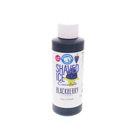 Blackberry Shaved Ice and Snow Cone Unsweetened Flavor Concentrate 4 Fl Oz Size (must add sugar and water)