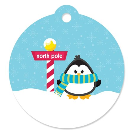 Penguin Party Favors (Holly Jolly Penguin - Party Favor Tags (Set of)