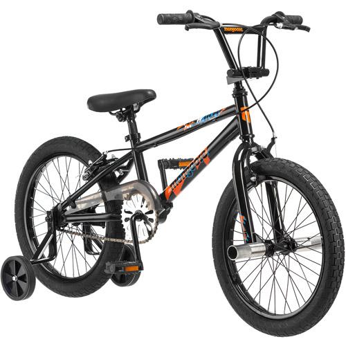"18"" Mongoose Switch Boys' Freestyle Bike, Black"