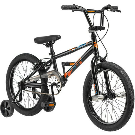 Mongoose Switch Freestyle BMX Bike, 18-inch wheels, single speed, Black