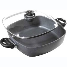 swiss diamond cast-aluminum nonstick 11-by-11-inch square casserole with lid 11 Inch Covered Square Casserole