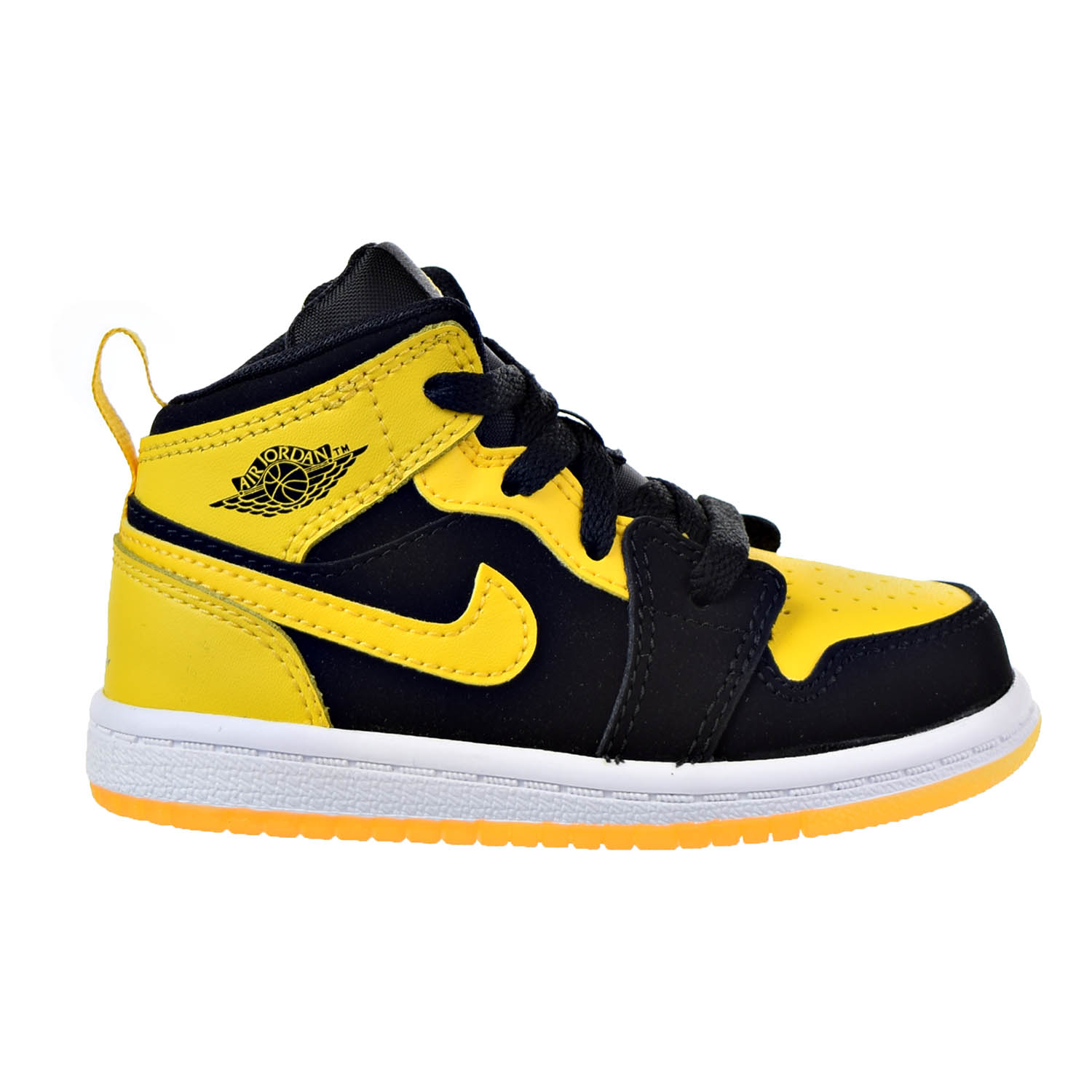 Nike 1 Mid BT Infants/Toddlers Shoes Black/Varsity Maize-...