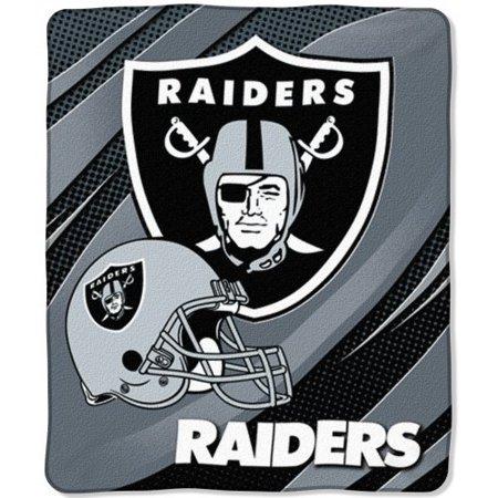 Oakland Raiders Nfl 50 X 60 Micro Raschel Plush Throw Blanket