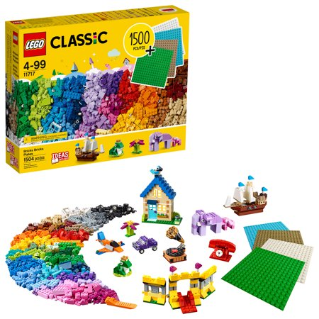 LEGO Classic Bricks Bricks Plates 11717 Building Toy; Great Gift for Kids; Imaginative, Creative, Educational Play (1504 Pieces)
