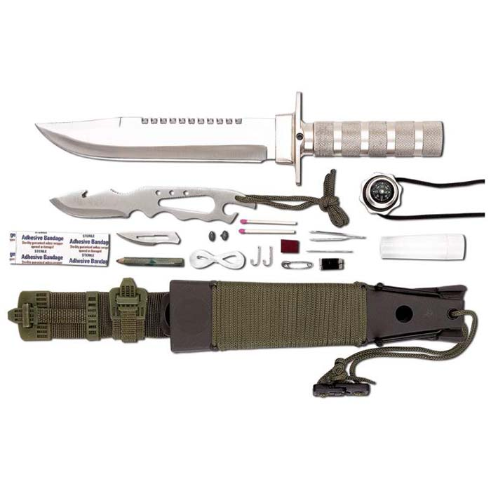 Maxam; 12-Piece Survival Knife Set