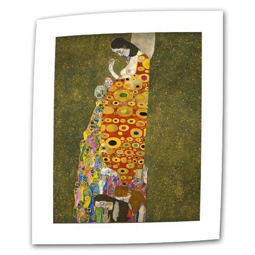 ArtWall ''Hope'' by Gustav Klimt Print of Painting on Canvas
