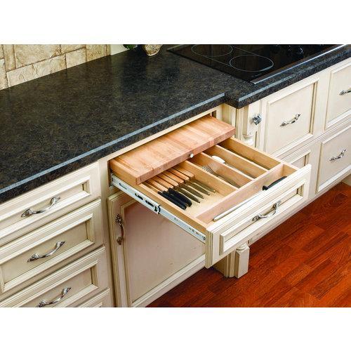 Rev-A-Shelf  4KCB-24  Cutlery with Cutting Boards  4KCB  Drawer Organizers  tural Wood