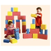 Lightweight Corrugated Brick Style Building Blocks Set (84 Pieces)