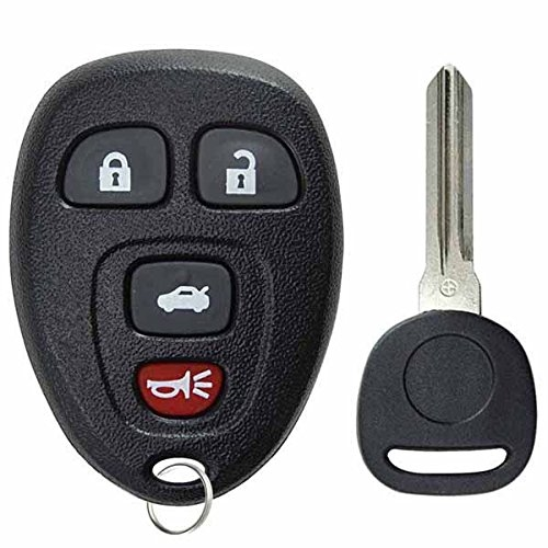 KeylessOption Keyless Entry Remote Control Car Key Fob Replacement with Transponder Chip Ignition Key 15252034 for 2005-2010 Chevy Pontiac Saturn