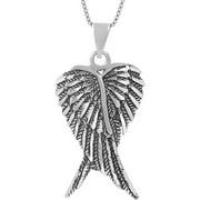 Sterling Silver Angel Wings Pendant, 18