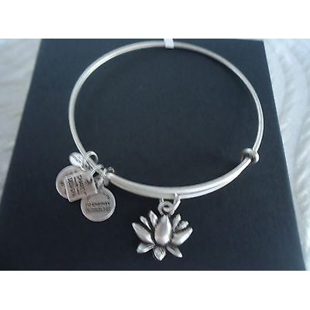 LOTUS BLOSSOM Russian Silver Charm Bangle NEW With TAG CARD and BOX Ambers Sterling Silver Bangles