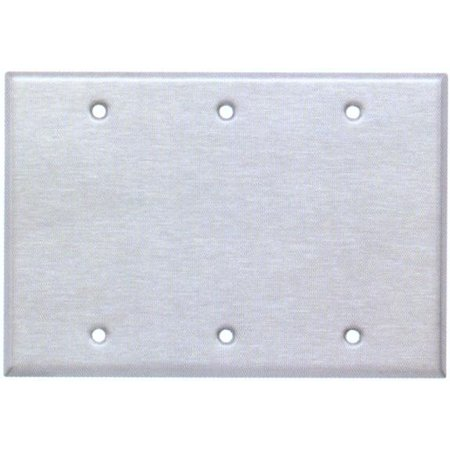 (Stainless Steel Metal Wall Plates 3 Gang Blank)
