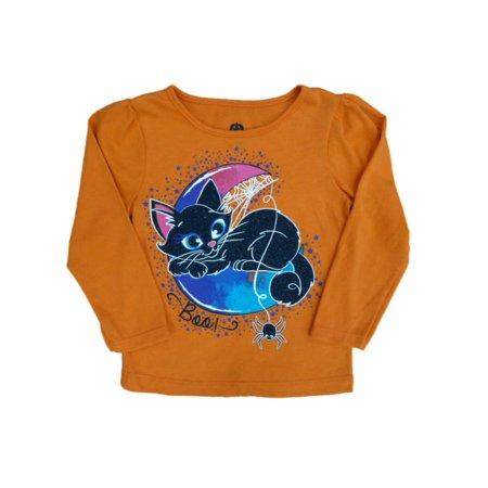 Infant & Toddler Girls Orange Boo! Cat Halloween Shirt Long Sleeved T-Shirt](Girl Cat Halloween Names)