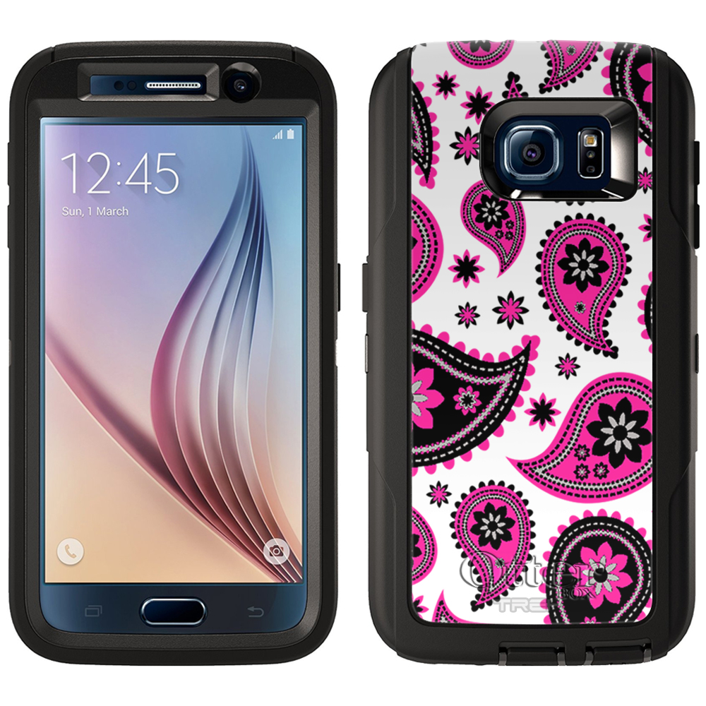 OtterBox Defender Samsung Galaxy S6 Case - Paisleys Cute Pink on White OtterBox Case