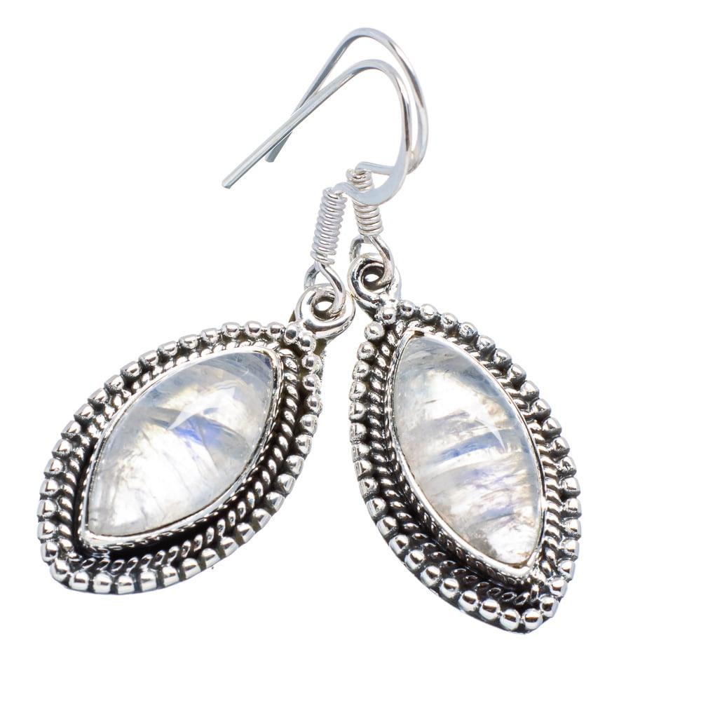 """Ana Silver Co Rainbow Moonstone 925 Sterling Silver Earrings 1 5/8"""" EARR354292"""