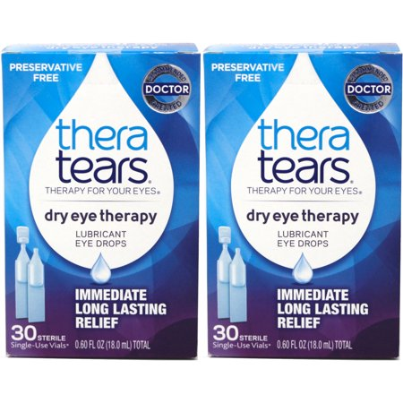 2 Pack - Thera Tears Lubricant Eye Drops, 30 Each